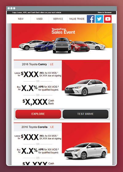 Toyota - Email Design